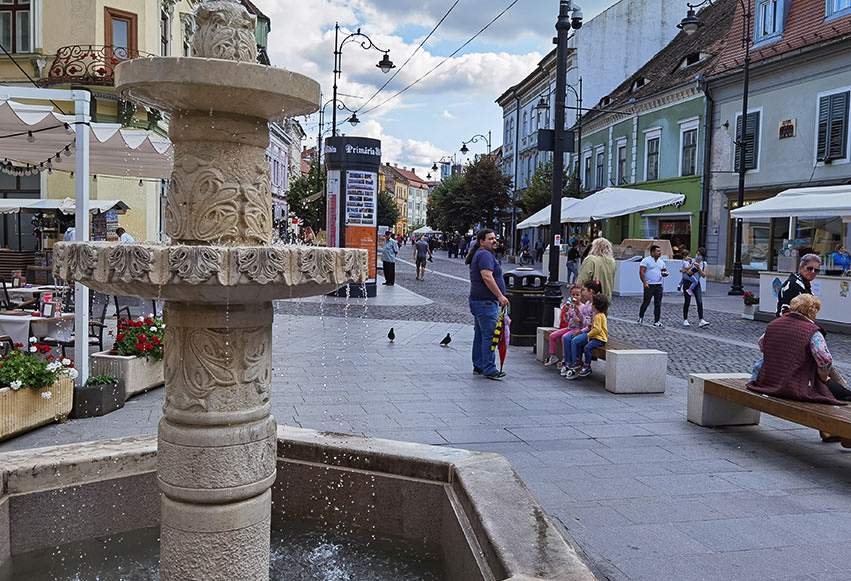 Strada Nicolae Balcescu din Sibiu